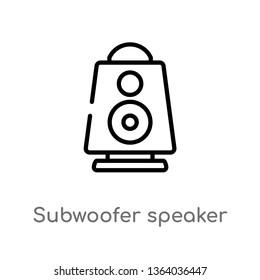 outline subwoofer speaker vector icon. isolated black simple line element illustration from music concept. editable vector stroke subwoofer speaker icon on white background