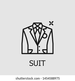 Outline suit vector icon. Suit illustration for web, mobile apps, design. Suit vector symbol.