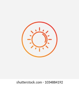 Outline sun icon.gradient illustration isolated vector sign symbol