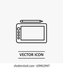 Outline  Tablet   icon illustration vector symbol