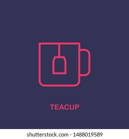 Outline teacup icon.teacup vector illustration. Symbol for web and mobile