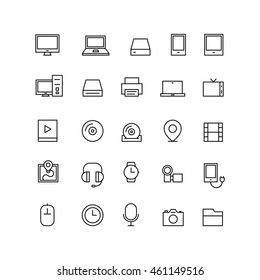 Outline Technology Icons Electronic Electronica Line Icon