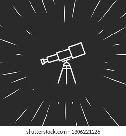 Outline telescope icon illustration isolated vector sign symbol
