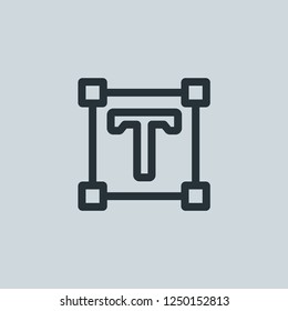 Outline text editor vector icon. Text editor illustration for web, mobile apps, design. Text editor vector symbol.