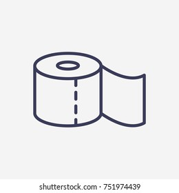 Outline toilet paper icon illustration vector symbol