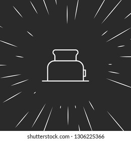Outline toster icon illustration isolated vector sign symbol