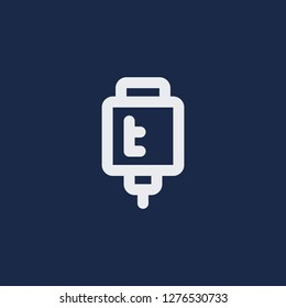 Outline transfusion vector icon. Transfusion illustration for web, mobile apps, design. Transfusion vector symbol.