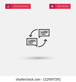 Outline Translator Icon isolated on grey background. Modern simple flat symbol for web site design, logo, app, UI. Editable stroke. Vector illustration. Eps10