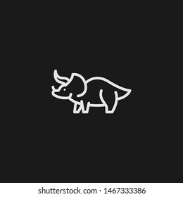 Outline triceratops vector icon. Triceratops illustration for web, mobile apps, design. Triceratops vector symbol.