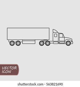 Outline truck vector icon