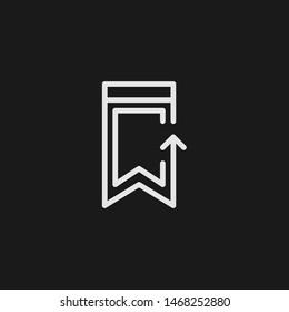 Outline upload vector icon. Upload illustration for web, mobile apps, design. Upload vector symbol.