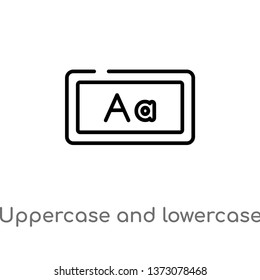 outline uppercase and lowercase letter vector icon. isolated black simple line element illustration from education concept. editable vector stroke uppercase and lowercase letter icon on white
