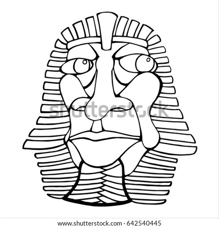 Outline Vector Art Pharaoh Coloring Page Stock Vector Royalty Free