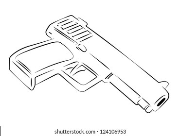 tommy gun images stock photos vectors shutterstock Toy Machine Tommy Gun Gangster outline vector a gun on white background