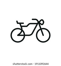 Outline Vector Icon Bike Isolated On A White Background. Bike Icon Sign