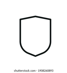 Outline Vector Icon Shield, Protect, Defense