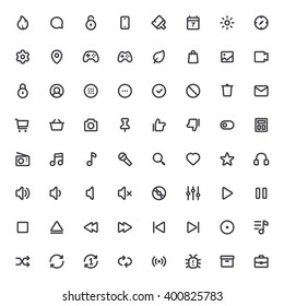 Outline vector icons for web and mobile.Thin Stroke Icons, 4 pixel stroke & 48x48 resolution
