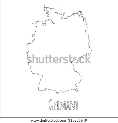 Outline Map Of Germany.Outline Vector Map Germany Simple Germany Stock Vector Royalty Free