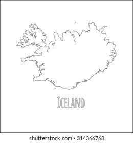 Iceland Map Images, Stock Photos & Vectors | Shutterstock