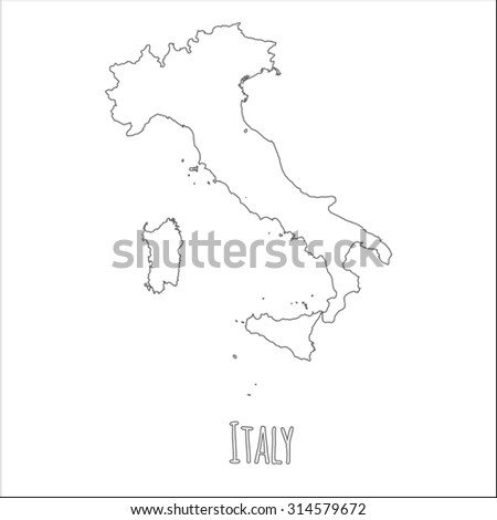 Map Of Italy Outline.Outline Vector Map Italy Simple Italy Stock Vector Royalty Free