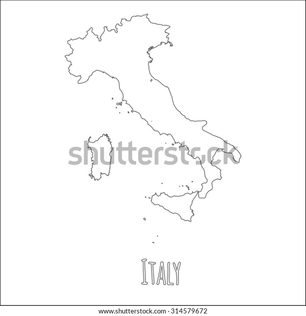 Map Of Italy Simple.Outline Vector Map Italy Simple Italy Stock Vector Royalty Free