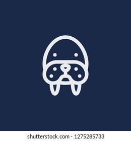 Outline walrus vector icon. Walrus illustration for web, mobile apps, design. Walrus vector symbol.