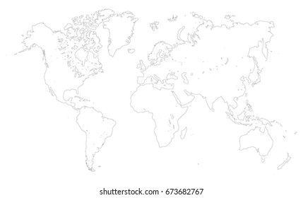 World map country border outline on stock vector 2018 741770353 outline world map vector gumiabroncs Choice Image