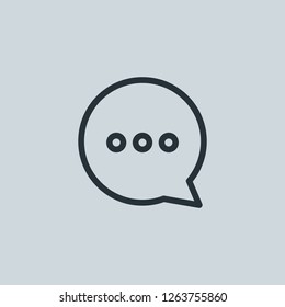 Outline writing vector icon. Writing illustration for web, mobile apps, design. Writing vector symbol.