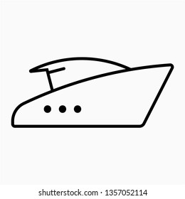 Outline yacht vector icon