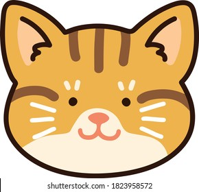 Outlined adorable Red tabby cat