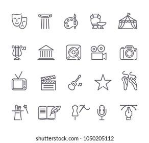 Symbol für Kunst und Unterhaltung auf weißem Hintergrund