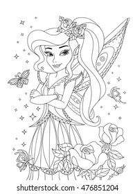 Coloring Pages Princess Stock Illustrations Images
