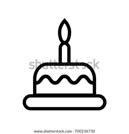 Outlined Birthday Cake Coloring Book Vector Stock Vector (Royalty ...