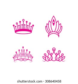 Outlined crown pageant set