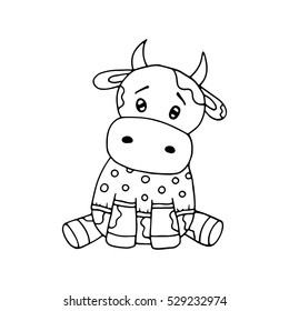 Cow Coloring Page Images, Stock Photos & Vectors | Shutterstock