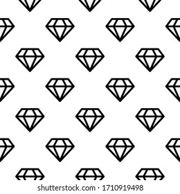Outlined diamond geometric vector background pattern design