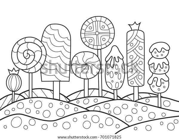 Cizilen Doodle Anti Stres Boyama Kitabi Sayfasi Stok Vektor