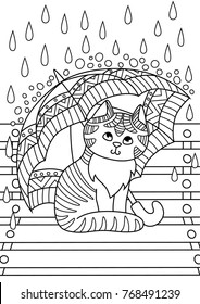 outlined doodle antistress coloring cute 260nw