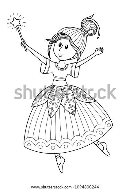 Outlined Doodle Antistress Coloring Page Cute Stock Vector Royalty