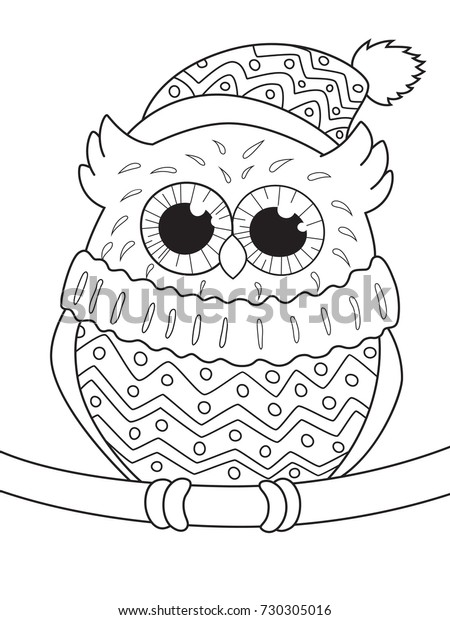 Outlined Doodle Antistress Coloring Page Cute Stock Vector Royalty Free 730305016