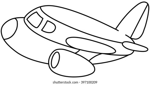 outlined plane vector illustration coloring 260nw