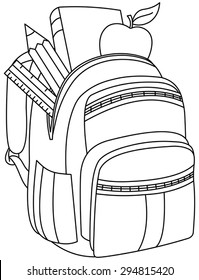 Open Backpack Drawing Stock Illustrations Images Vectors