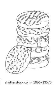 Donut Zum Ausmalen - Malvorlagen Gratis