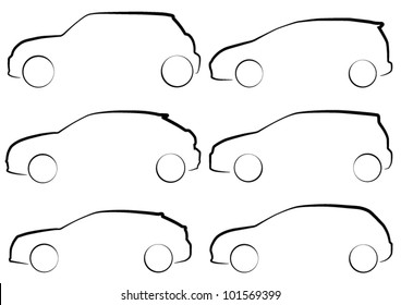 Outlines of Hatchback Cars