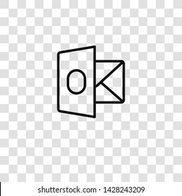 outlook icon on transparent background