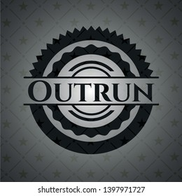 Outrun black emblem. Vector Illustration. Detailed.