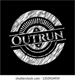 Outrun with chalkboard texture