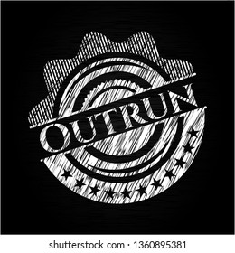 Outrun on blackboard