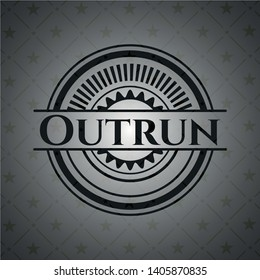 Outrun realistic dark emblem. Vector Illustration. Detailed.