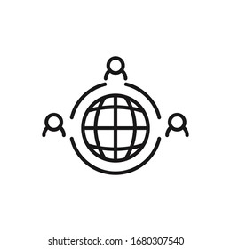 Outsourcing icon. Simple element illustration. Outsourcing symbol design from HR collection. Can be used in web and mobile.